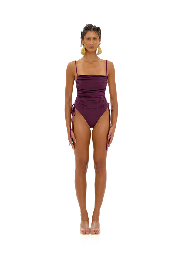 ADAN PURPLE ONE PIECE SWIMSUIT