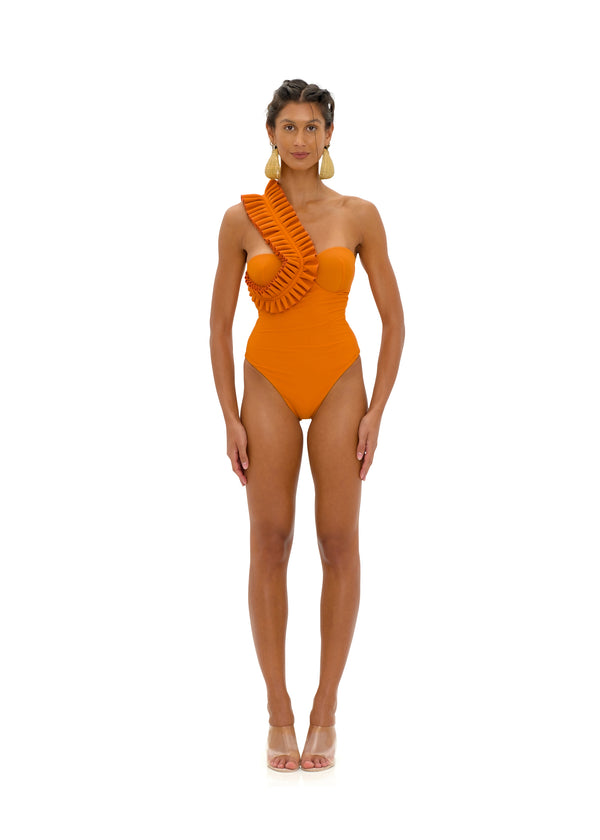 NISI ORANGE ONE PIECE SWIMSUIT