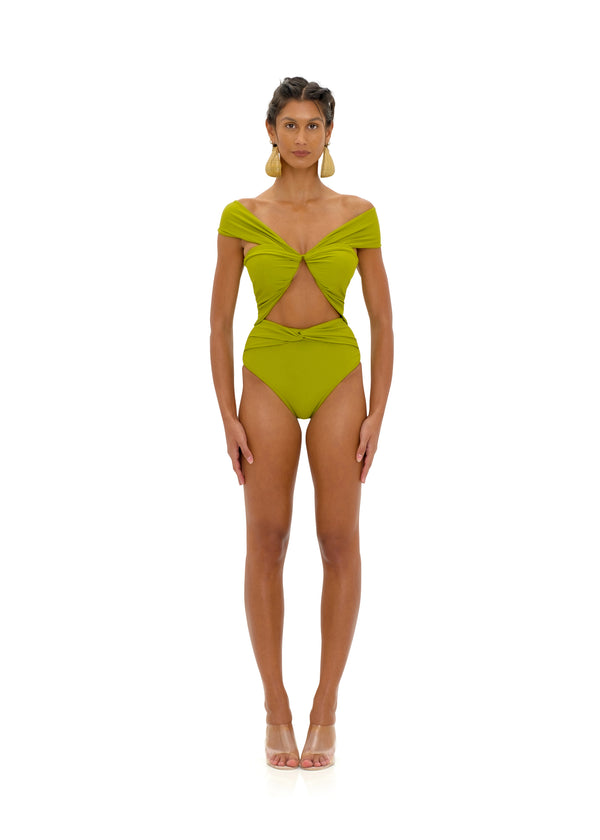 AMINA OLIVE ONE PIECE SWIMSUIT