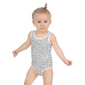 Open image in slideshow, White Spotted Kids Swimsuit