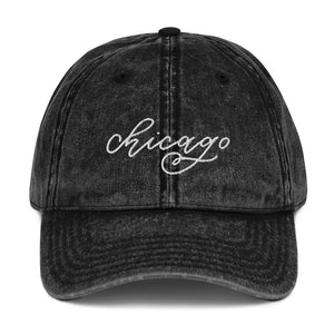Open image in slideshow, Distressed Chicago Embroidered Hat