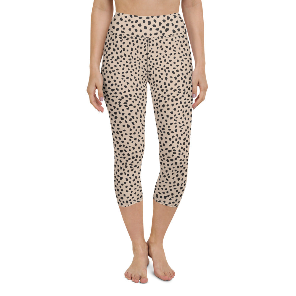 Spotted Yoga Capri Leggings