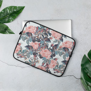 Open image in slideshow, Pink and Blue Floral Laptop Sleeve