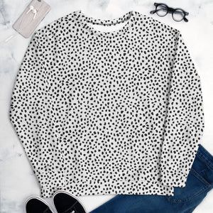 Open image in slideshow, White Spotted Unisex Sweatshirt