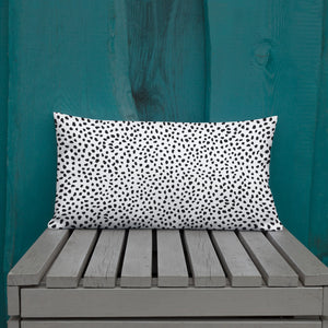 Open image in slideshow, White Spotted Premium Pillow
