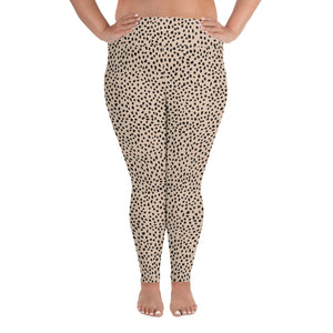 Open image in slideshow, Spotted Plus Size Leggings
