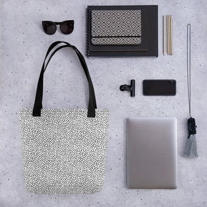 Open image in slideshow, White Spotted Tote bag