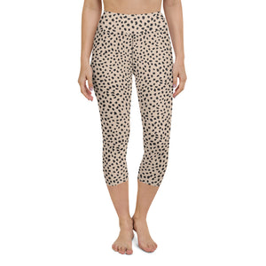 Open image in slideshow, Spotted Yoga Capri Leggings