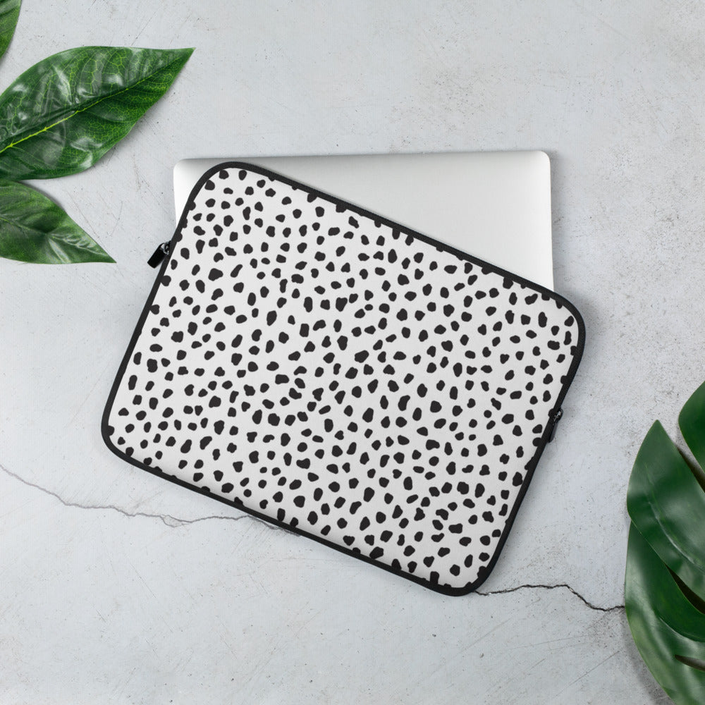 White Spotted Laptop Sleeve
