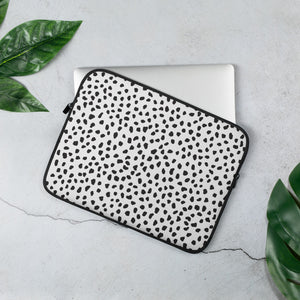 Open image in slideshow, White Spotted Laptop Sleeve