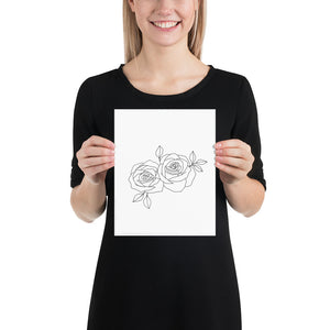 Open image in slideshow, Minimalistic Roses Print