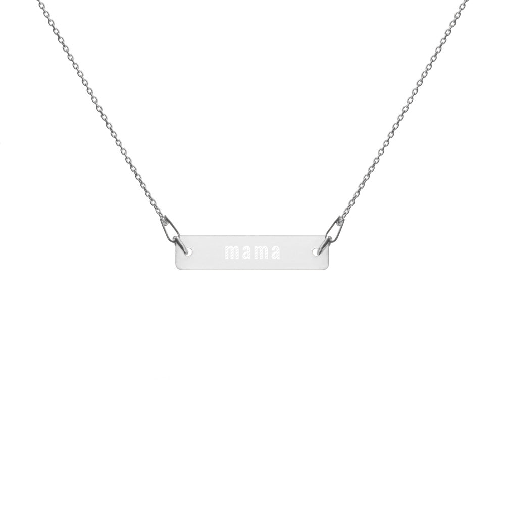 Engraved Mama Bar Chain Necklace / Jewelry for Mom / Jewelry for Mama / Mother's Day Gift
