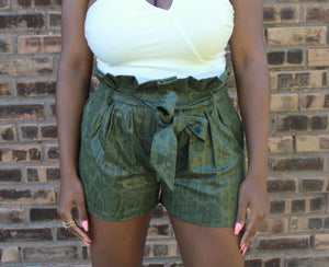 Slitherin' Around Paperbag Waist Shorts