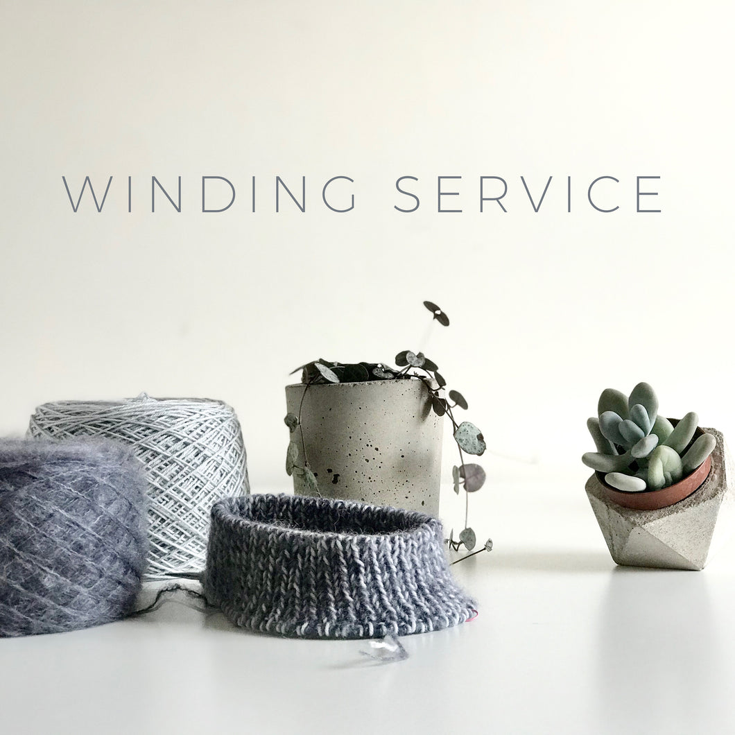Winding Service // One per skein (optional add-on)