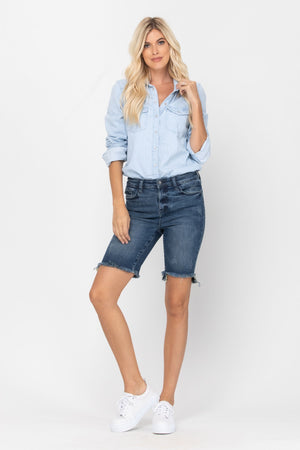 The Everly Bermuda Denim Shorts
