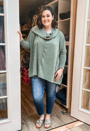 Olive's Cowl Neck Top