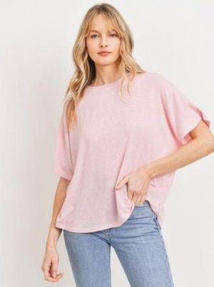 The Ava Pink Round Neck Top
