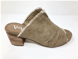 Bianca Distressed edge Small heel slide