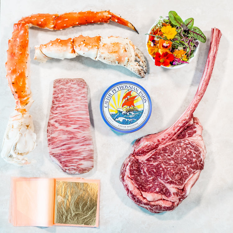 BOX 6 - GOLDEN WAGYU TOMAHAWK, KING CRAB & CAVIAR