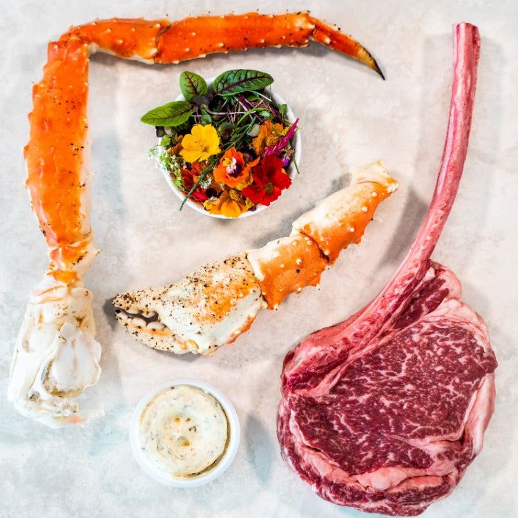 BOX 4 - WAGYU TOMAHAWK & DOUBLE KING CRAB