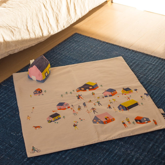 Tapis d'éveil Petit Village - Made In France par Maison Petit Point - 0 à 1 an | Jourès