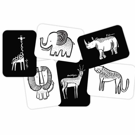 Cartes Imagier - Animaux Safari par Wee Gallery - Wee Gallery | Jourès