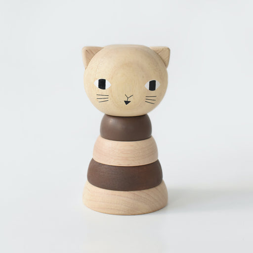 Chat à empiler en bois par Wee Gallery - Wee Gallery | Jourès