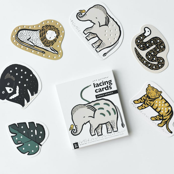 Cartes à Lacer - Animaux de la Jungle par Wee Gallery - 3 à 6 ans | Jourès