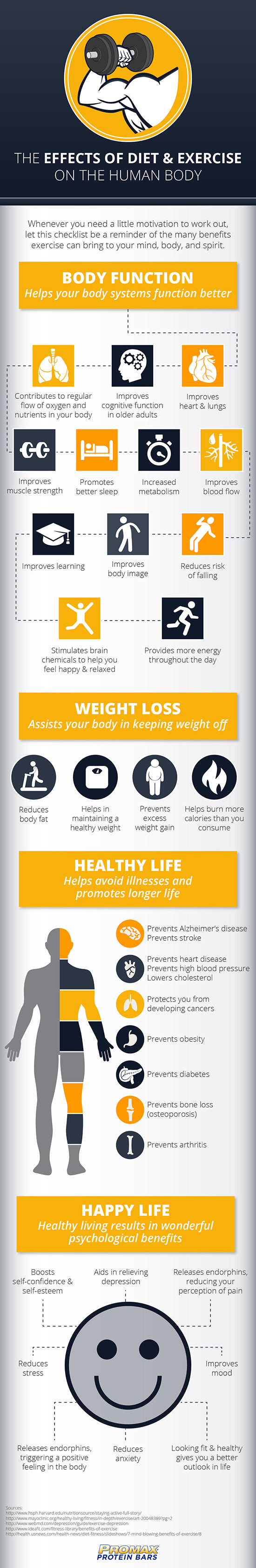 Infographic - The Effects of Diet and Exercise on the Human Body