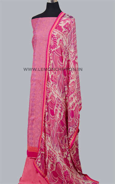 Printed Kalamkari-Embroidered Salwar Suit