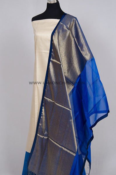 Royal Blue Maheshwari Silk Dupatta