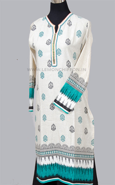 Printed Khadi Cotton Kurta