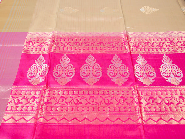 Kanjivaram Soft SIlk Saree with Zari Motifs
