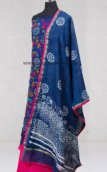 Embroidered Chanderi Silk Suit