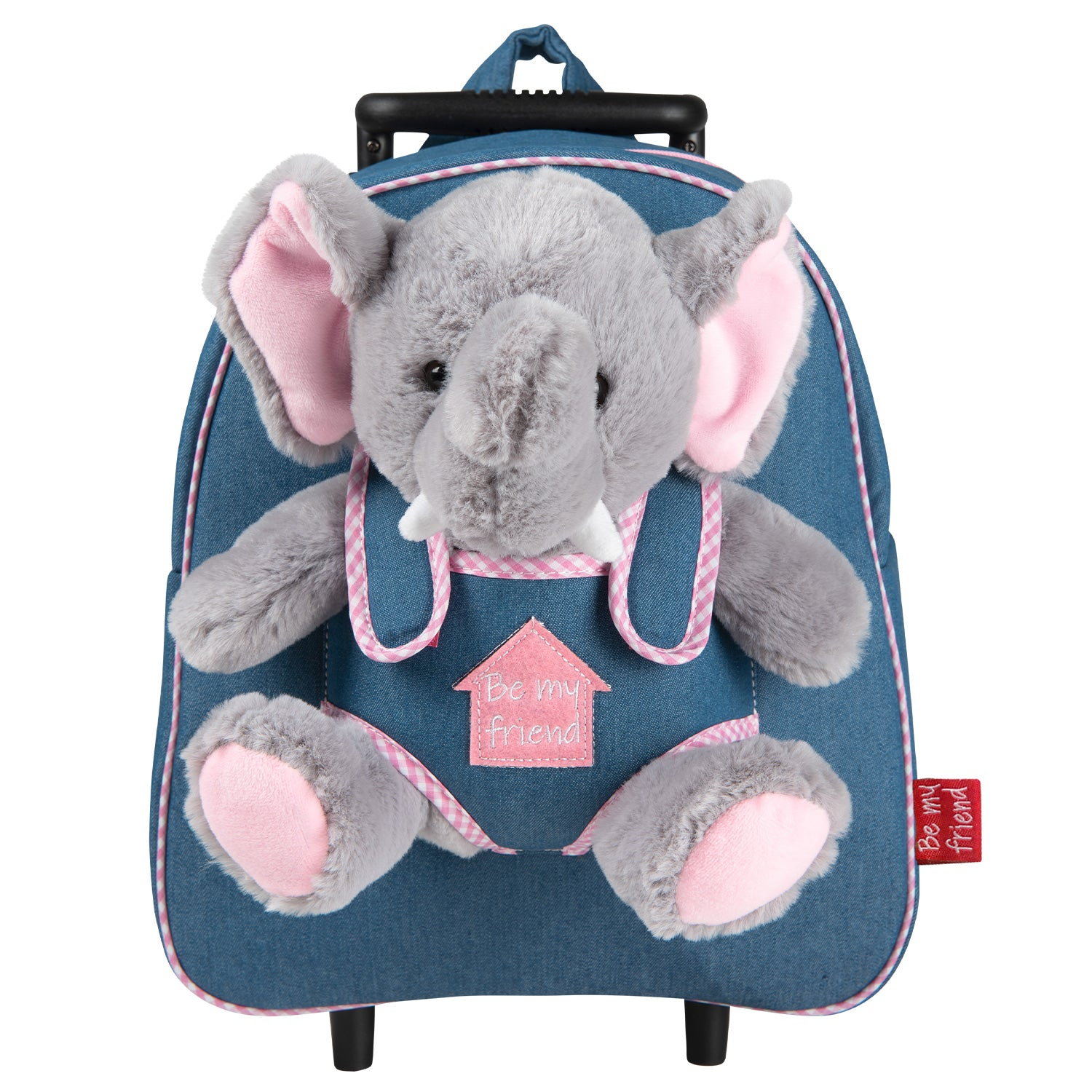 Trolley in Denim con Peluche - Perletti