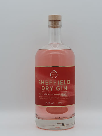 True North Brew Co - Sheffield Dry Gin Raspberry & Pomegranate 70cl