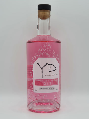 Yorkshire Dales - Strawberry & Thai Basil Gin - 70cl