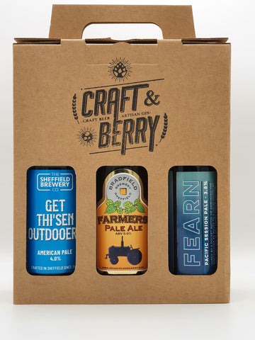 Three Bottle Gift Box - Craft & Berry Stamped