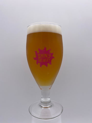 Shiny Brewery - Stemmed 1/2 Pint Branded Glass