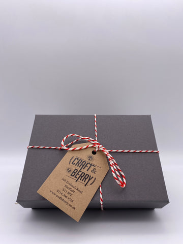 Gin Miniatures Gift Box with packing and wrapping
