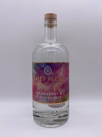 True North Brew Co - Sheffield Dry Gin Strawberry & Black Pepper Gin 70cl