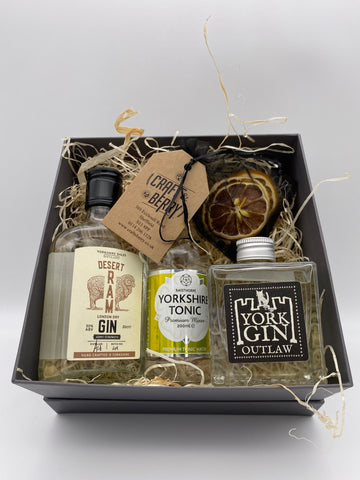 Gin Gift Set - Dry Special 2x 20cl 1x 200ml Tonic & Dehydrated/dried fruit garnish