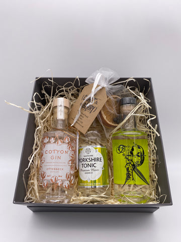 Gin Gift Set - Dry 2x 20cl 1x 200ml Tonic & Dehydrated/dried fruit garnish