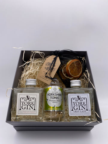 Gin Gift Set - York Gin 2x 20cl 1x 200ml Tonic & Dehydrated/dried fruit garnish