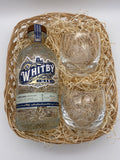 Gin Wicker Gift Basket with packing and wrapping