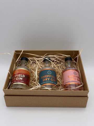True North Brew Co - Sheffield Dry Gin Gift Set 3x 5cl