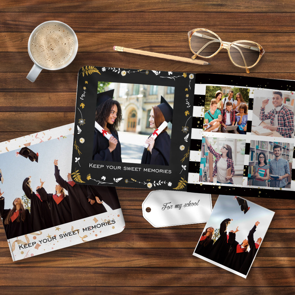 Personalised Collage Book Graduation Design Photo Albums Book - 3 Size