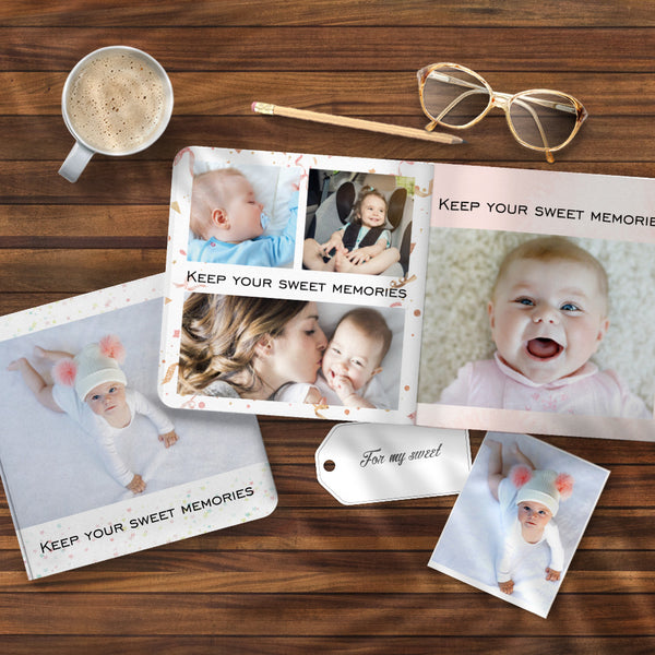 Newborn Photo Collage Book Design Photo Albums Book - 3 Size