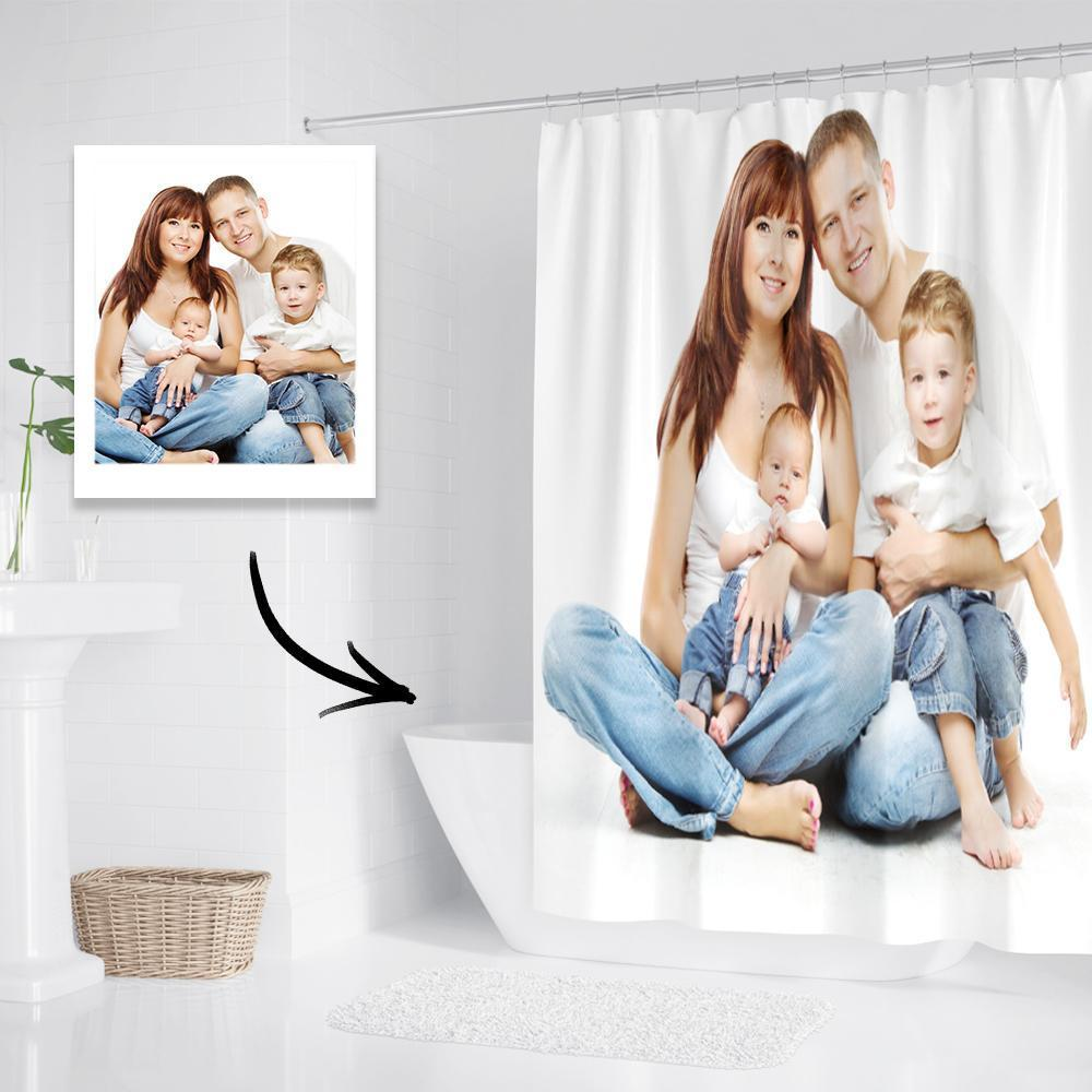 Photo On Shower Curtain Custom Backdrop Polyester Waterproof