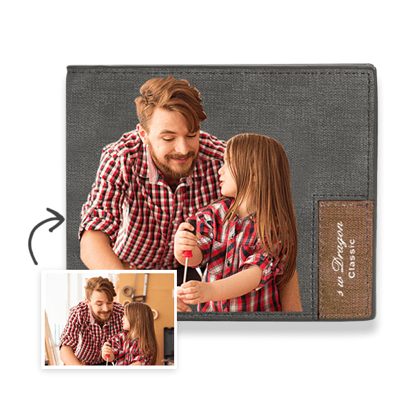 Custom Photo Wallet Handsome Dad Color Printing Wallet